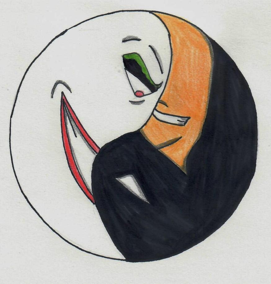 Batman/Joker Yin Yang by ElvisPresleyFan3577