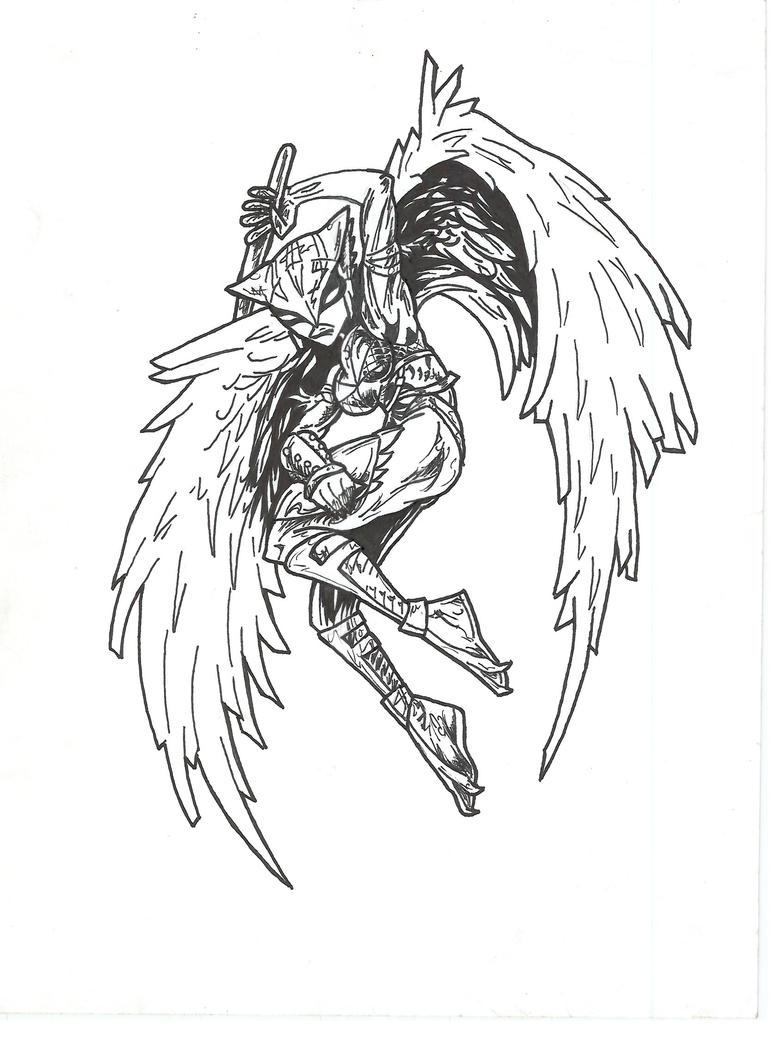 hawk girl coloring pages - photo#30