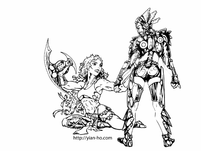 Dark Rift - Niiki vs Eve by viridislament