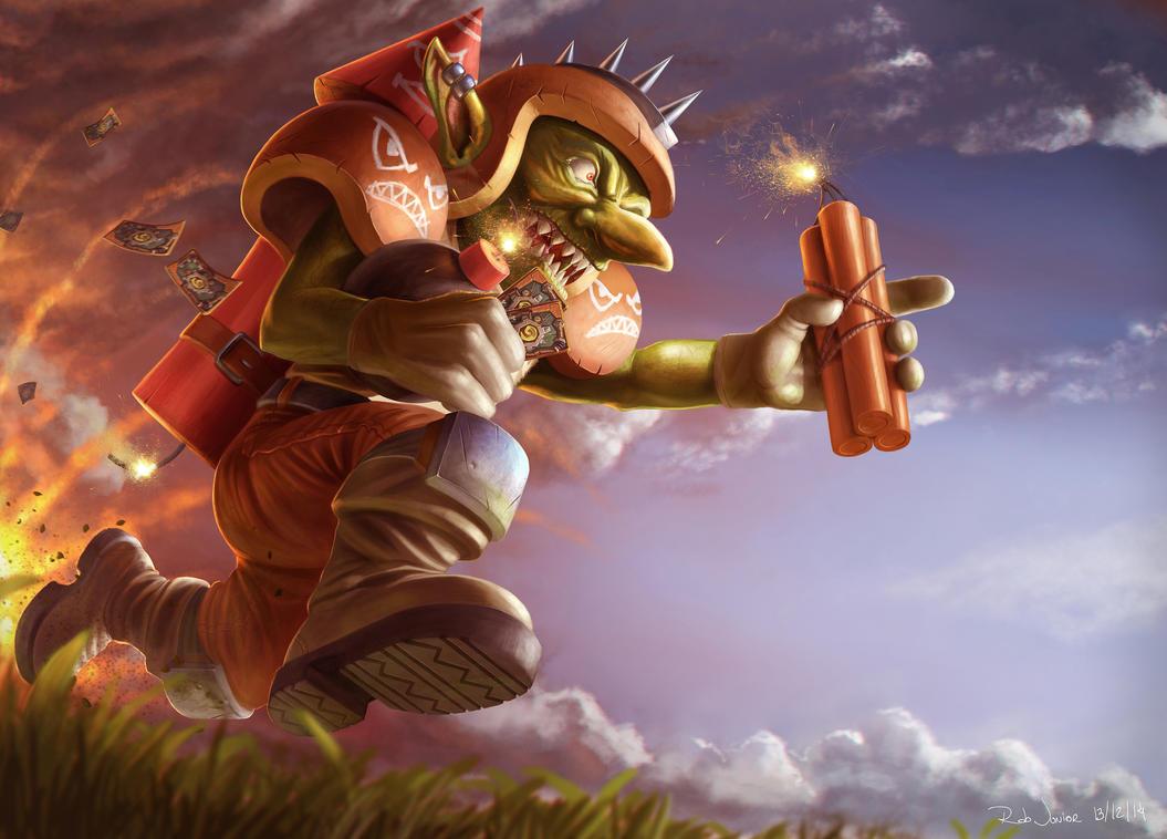 Hearthstone - Goblin explode touchdown by NOOSBORN