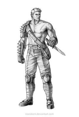 Concept Art Comission Warrior Male A