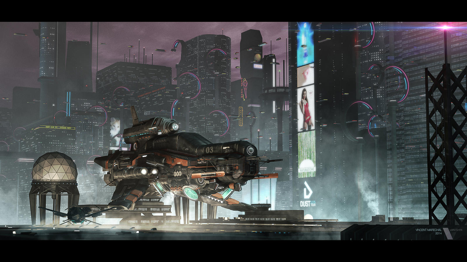 U-kalanda - Futuristic cityscape by Vanishin