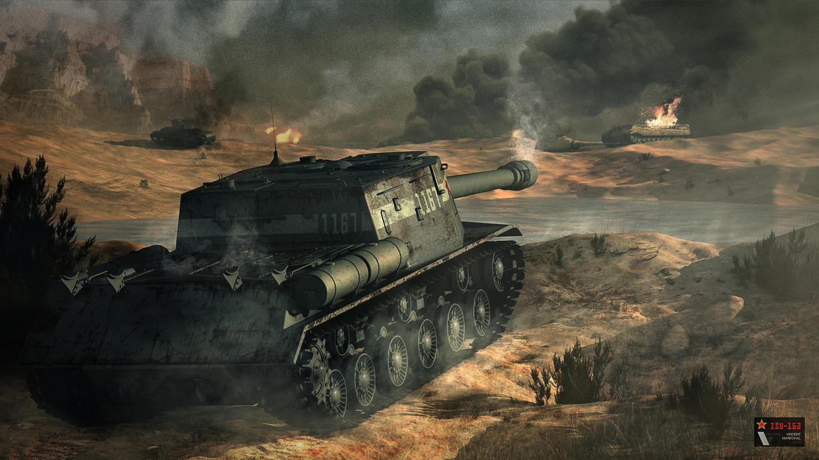ISU-152 - Soviet tank destroyer by Vanishin