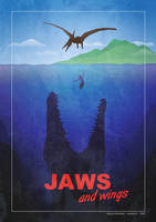 Jurassic World..or JAWS and wings !