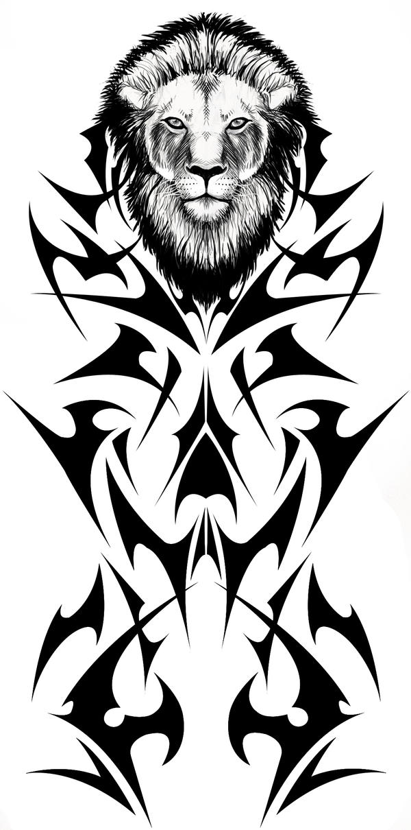 Tribal Lion Tattoo by *Fallingfreely on deviantART