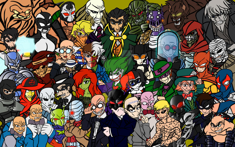 Batman Villains by NegaHumanX