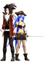 MMD Model: Captain Gray and Lilith Sparrow by LilithZatsune