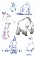Art of B Sketches 1-19 by ArtofLaurieB