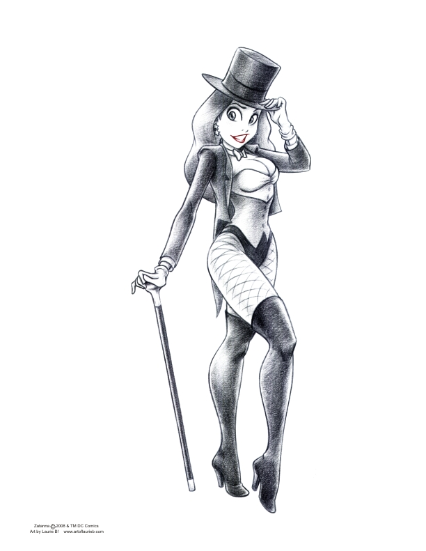Zatanna Pencils by ArtofLaurieB