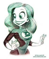 Con Sketch - Green Lantern by ArtofLaurieB