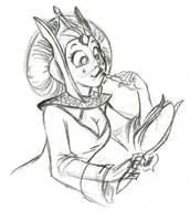 Queen Amidala Roughs by ArtofLaurieB