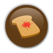 Toast Brown Badge by Erakis