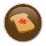 Toast Brown Badge by Erakis
