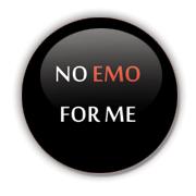 No Emo Badge by Erakis