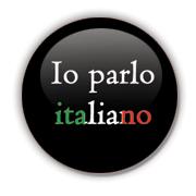 Io parlo italiano Badge by Erakis