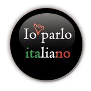 Io non parlo italiano Badge by Erakis