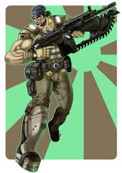 Marcus Fenix - Gears of War - Color
