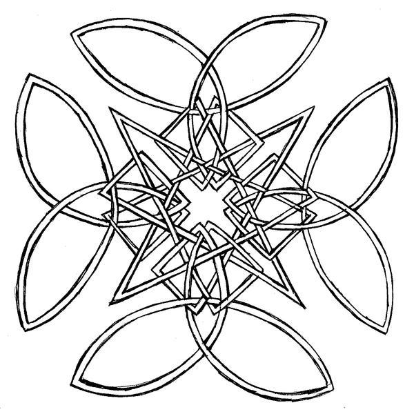 Celtic Knot Square Square celtic knot by mish77Simple Celtic Knot Square