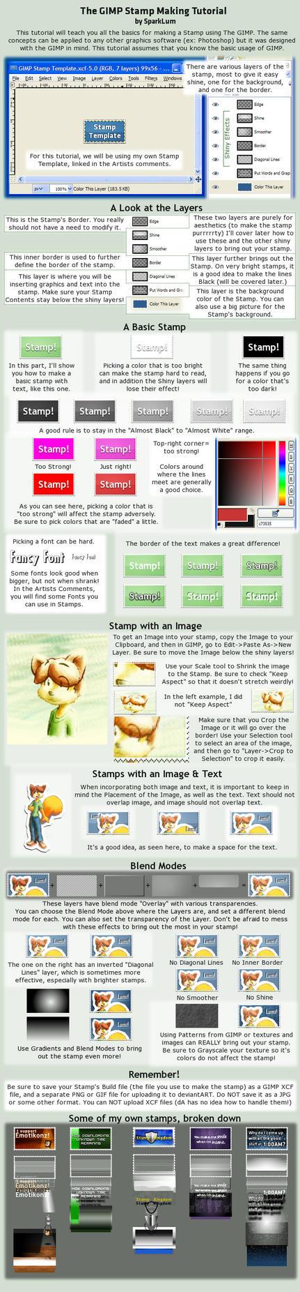 Stamp Tutorial by SparkLum