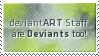 Deviant Staff Stamp