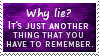 Why Lie Stamp by SparkLum
