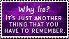 Why Lie Stamp by SparkLum