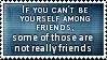 Around Friends Stamp