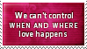 Can't Control Love Stamp by SparkLum