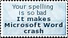 Crashing Word Stamp by SparkLum