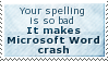 Crashing Word Stamp by SparkLum