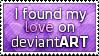 Love on dA Stamp