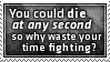 Waste Time Fighting Stamp