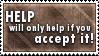 Accept Help Stamp