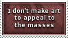 Don't Appeal To Masses Stamp by SparkLum