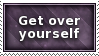 Get Over Yourself Stamp by SparkLum