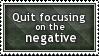 Focus on Positives Stamp by SparkLum