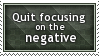 Focus on Positives Stamp by SparkLum
