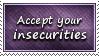 Accept Insecurities Stamp by SparkLum