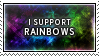 Rainbows Stamp by SparkLum