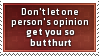 One Person's Opinion Stamp