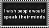 Speak your Mind Stamp by SparkLum