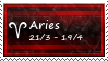 Aries Stamp by SparkLum