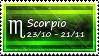 Scorpio Stamp by SparkLum