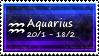 Aquarius Stamp by SparkLum