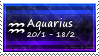Aquarius Stamp by SparkLum