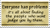 Judging Problems Stamp by SparkLum