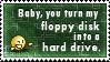 Floppy Disk Stamp