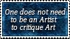 Critiquing Art Stamp
