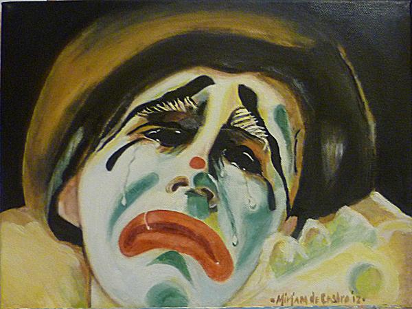 oil painting sad clown by artsprinkle on deviantart