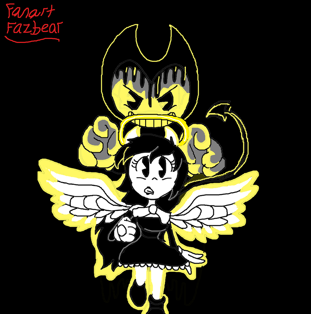 how to draw bendy and alice